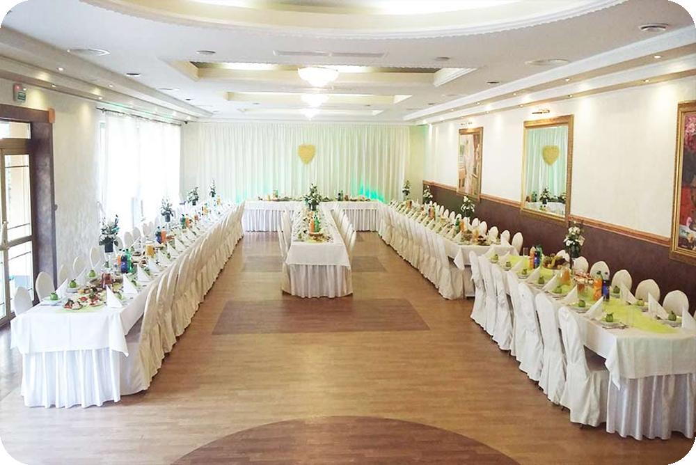 Standard ( prostokątne stoły – rzędy)